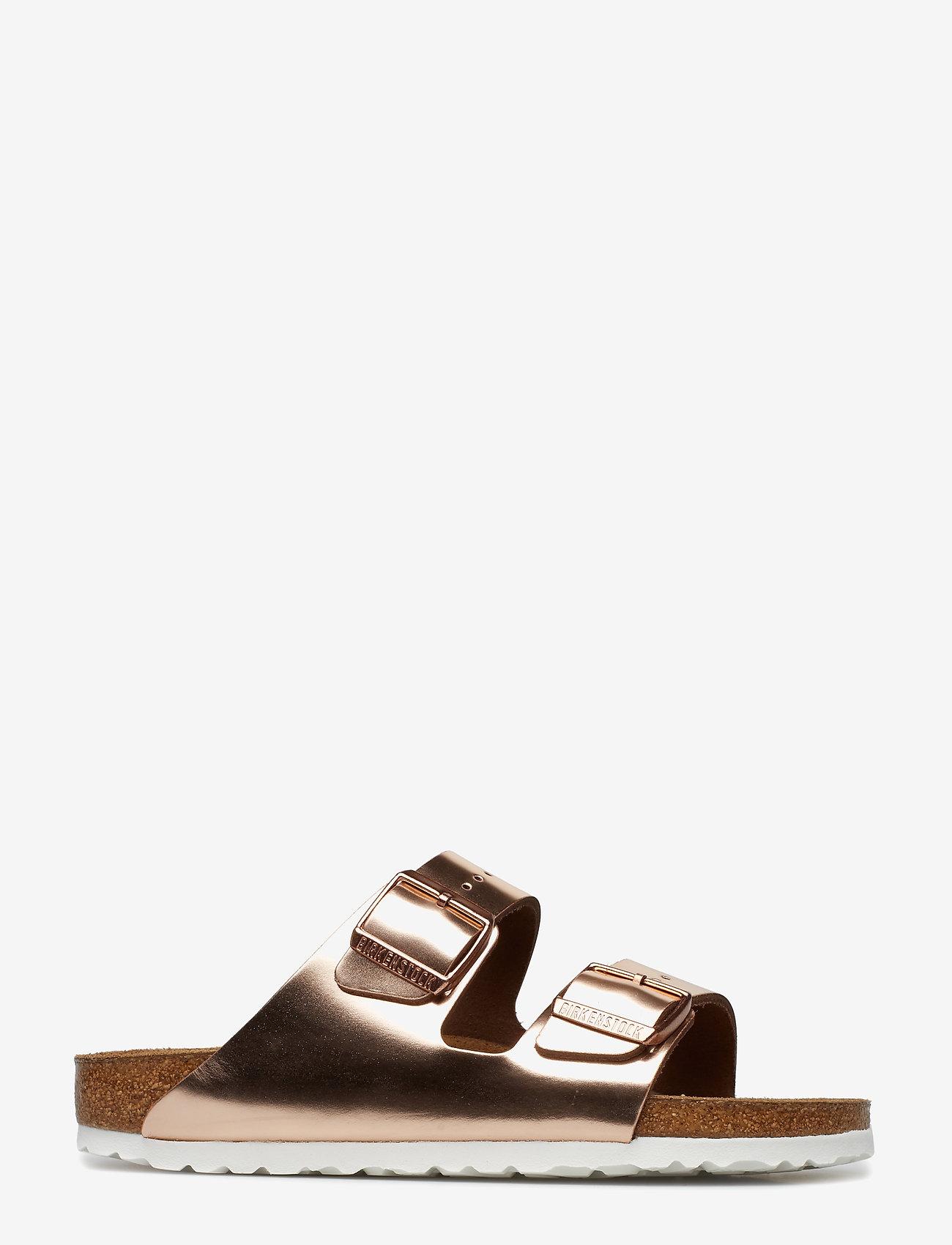 Birkenstock - Arizona Soft Footbed - flade sandaler - metallic copper - 1