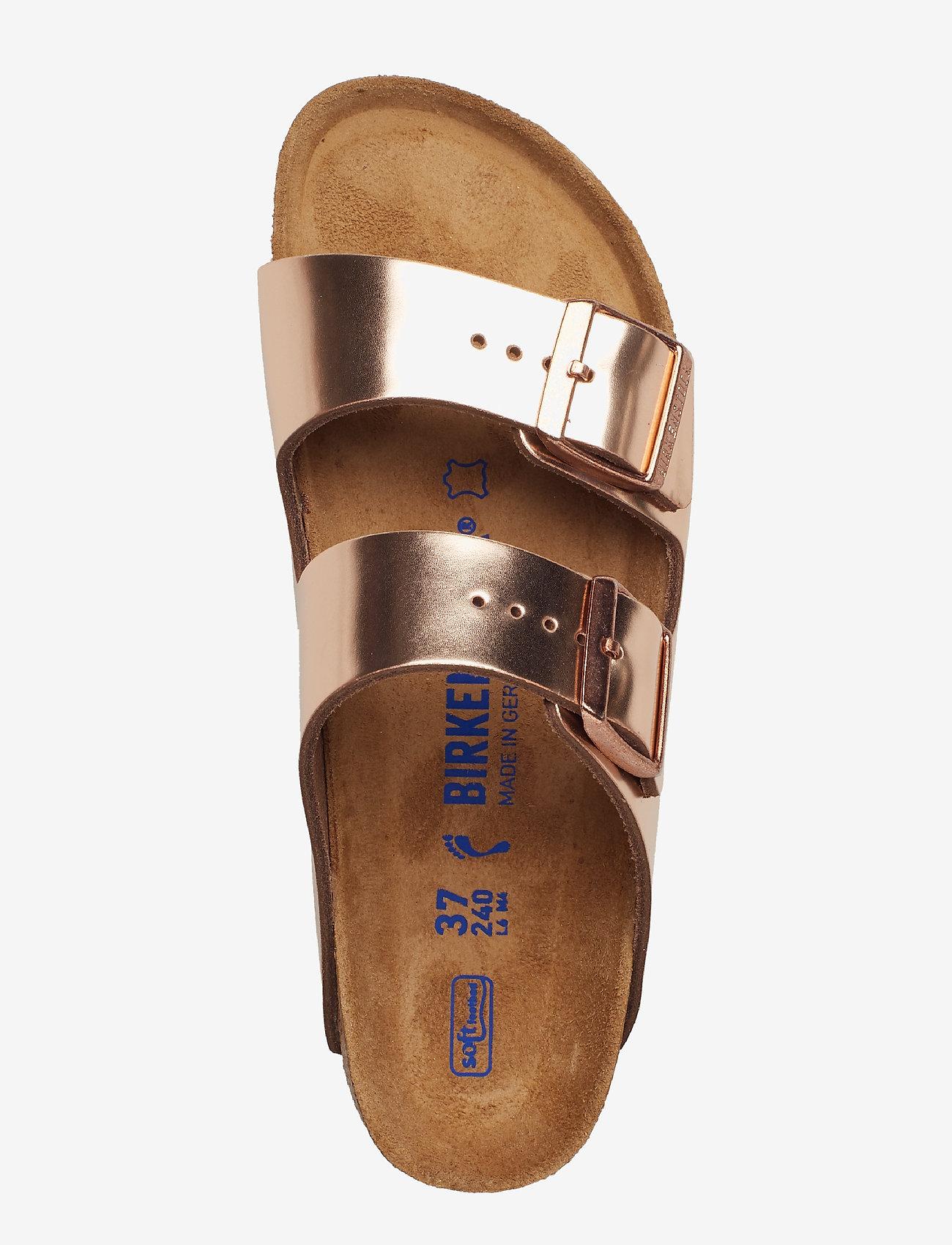 Birkenstock - Arizona Soft Footbed - flade sandaler - metallic copper - 3