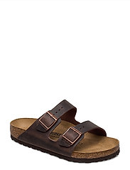 Birkenstock - Arizona - Oiled Leather - platte sandalen - habana - 0