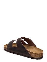 Birkenstock - Arizona - Oiled Leather - platte sandalen - habana - 2