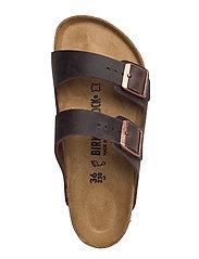 Birkenstock - Arizona - Oiled Leather - platte sandalen - habana - 3