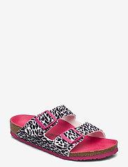 Birkenstock - Arizona - hjemmesko - leo lilly black pink - 0
