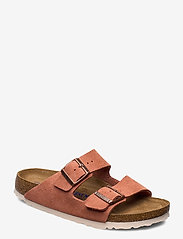 Birkenstock - Arizona Soft Footbed - flade sandaler - earth red - 0