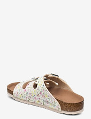 Birkenstock - Florida Vegan - schuhe - watercolor flower white - 2