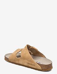 Birkenstock - Arizona Soft Footbed - flade sandaler - latte cream - 2