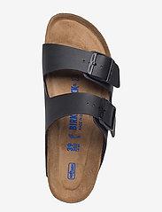 Birkenstock - Arizona Soft Footbed - platta sandaler - black - 3
