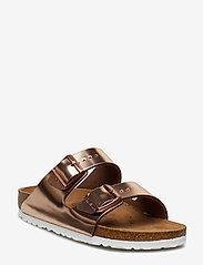 Birkenstock - Arizona Soft Footbed - flade sandaler - metallic copper - 0