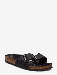 Madrid Big Buckle - flate sandaler - black