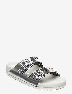 Arizona Diamond - platta sandaler - metallic silver diamond