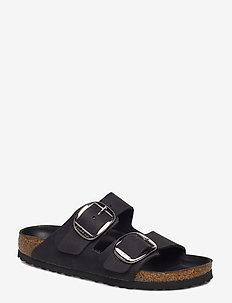 Arizona Big Buckle - flate sandaler - black