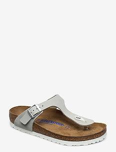 Gizeh - flade sandaler - mineral