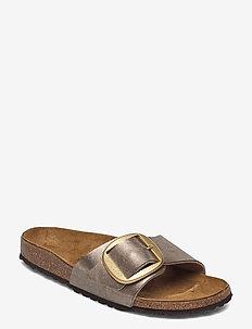 Madrid Big Buckle - platta sandaler - graceful taupe