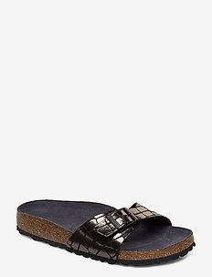 Madrid - flate sandaler - gator gleam black