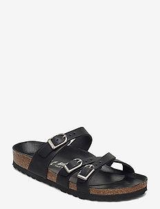 Franca D-Buckle - flate sandaler - black