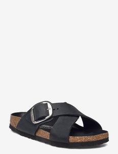 Siena Big Buckle - platta sandaler - black