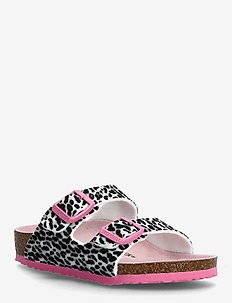 Arizona Kids - strap sandals - leo lilly black pink