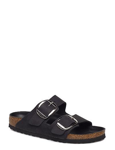 Arizona Big Buckle Shoes Summer Shoes Flat Sandals Schwarz BIRKENSTOCK