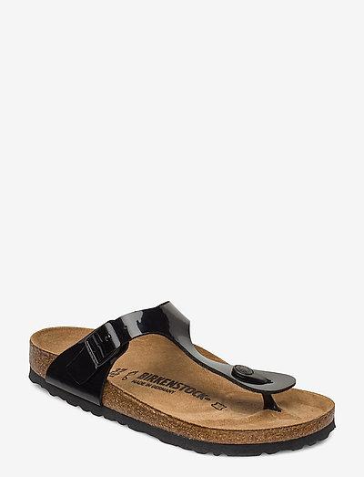 Gizeh - flade sandaler - black patent