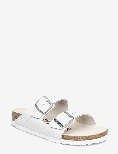 Arizona - Natural Leather - flade sandaler - white