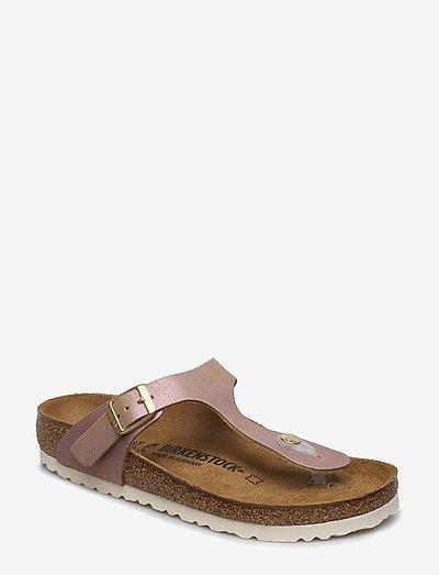 Gizeh - flade sandaler - washed  metallic pink