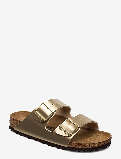 Arizona - flade sandaler - gold