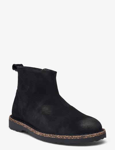 Melros - flade ankelstøvler - black