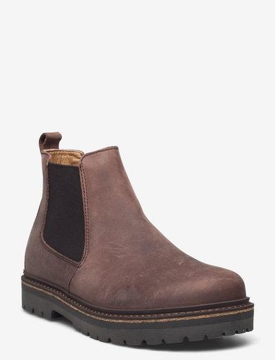 Stalon - flade ankelstøvler - mocca