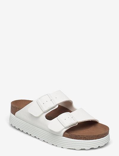 Arizona Grooved Vegan - flade sandaler - white
