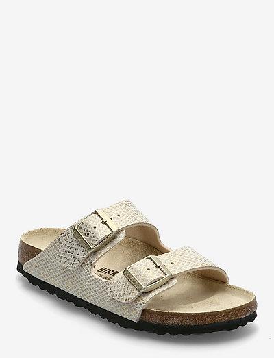 Arizona - flade sandaler - shiny python egsehell/gold