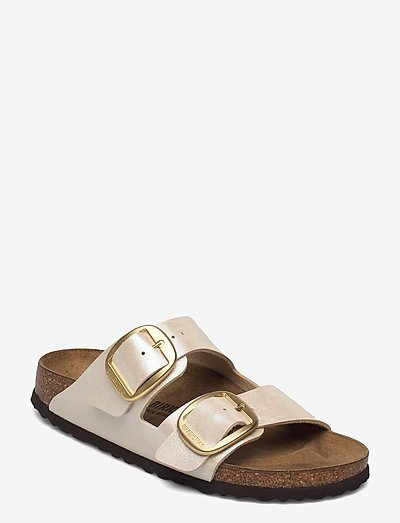 Arizona Big Buckle - flade sandaler - graceful pearl white