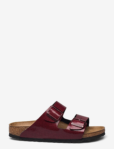 Arizona - flade sandaler - magical metallic maroon