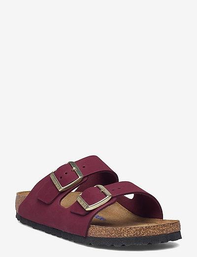 Arizona Soft Footbed - Nubuck Leather - flade sandaler - maroon