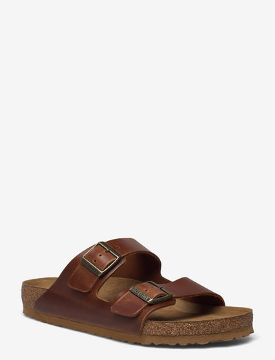 Arizona Soft Footbed - Oiled Nubuck Leather - sandaler - cognac
