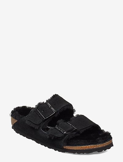Arizona Shearling - Narrow - flade sandaler - black