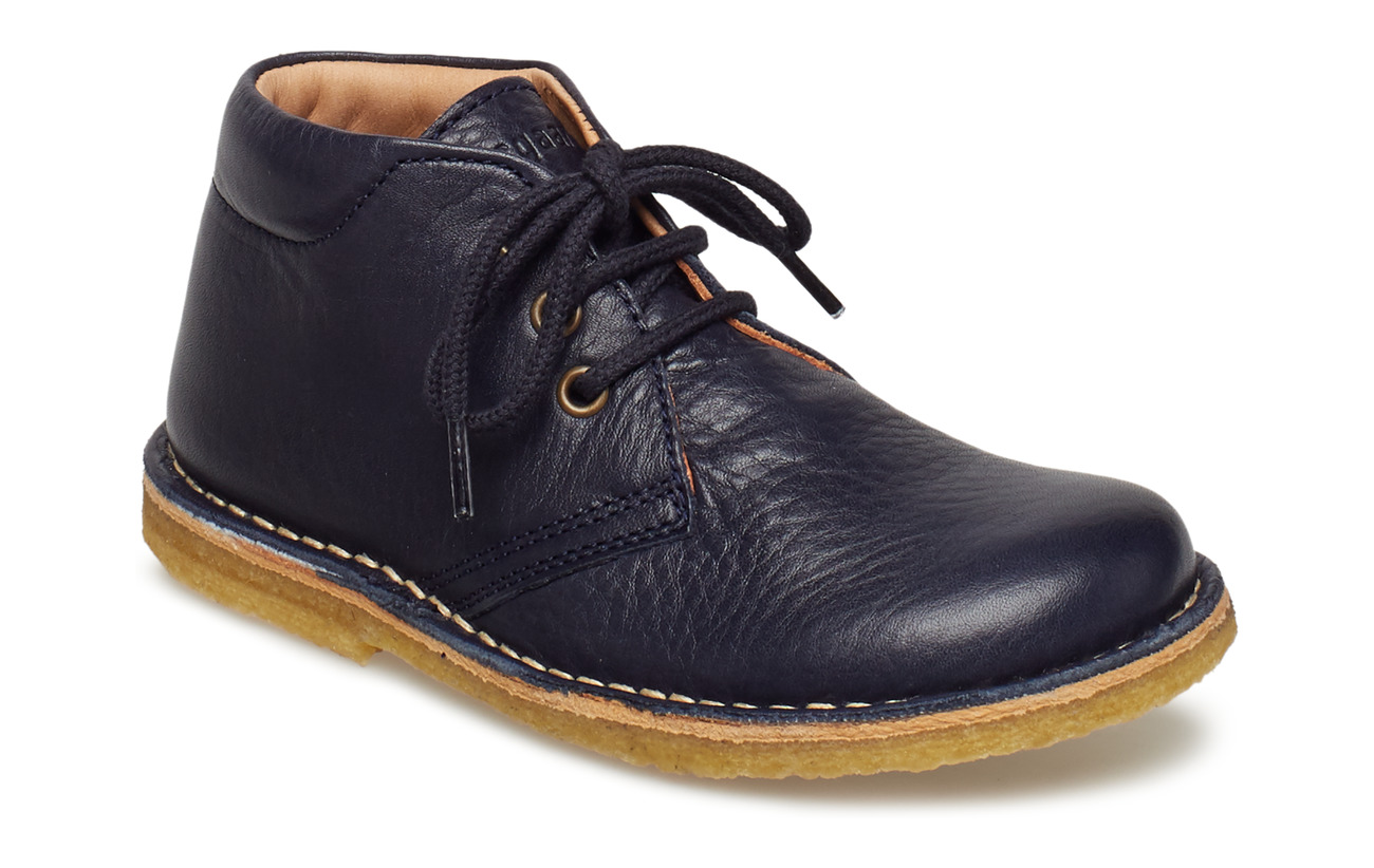Bisgaard Shoe with laces - NAVY