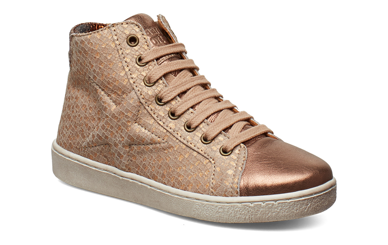 Bisgaard Shoe with laces - NUDE SQUARE