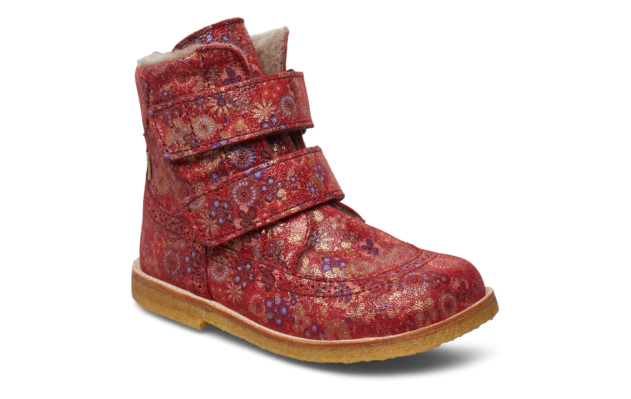 Bisgaard TEX Boot - RED FLOWERS
