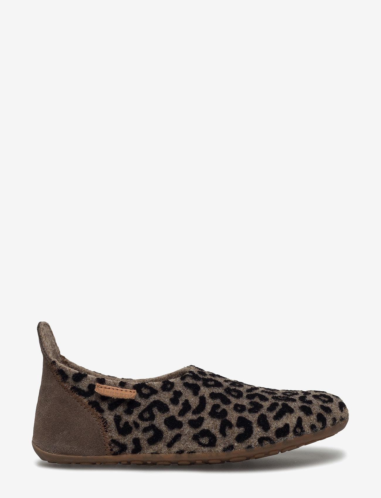 Bisgaard - bisgaard basic wool - hausschuhe - brown-leopard - 1