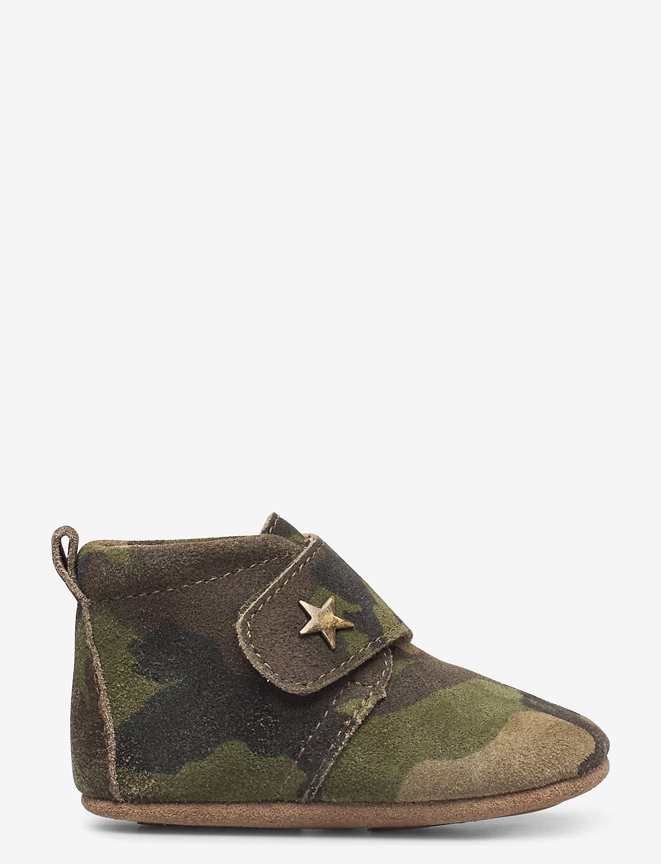 Bisgaard - HJEMMESKO - velcro stjerne - schuhe - army - 1
