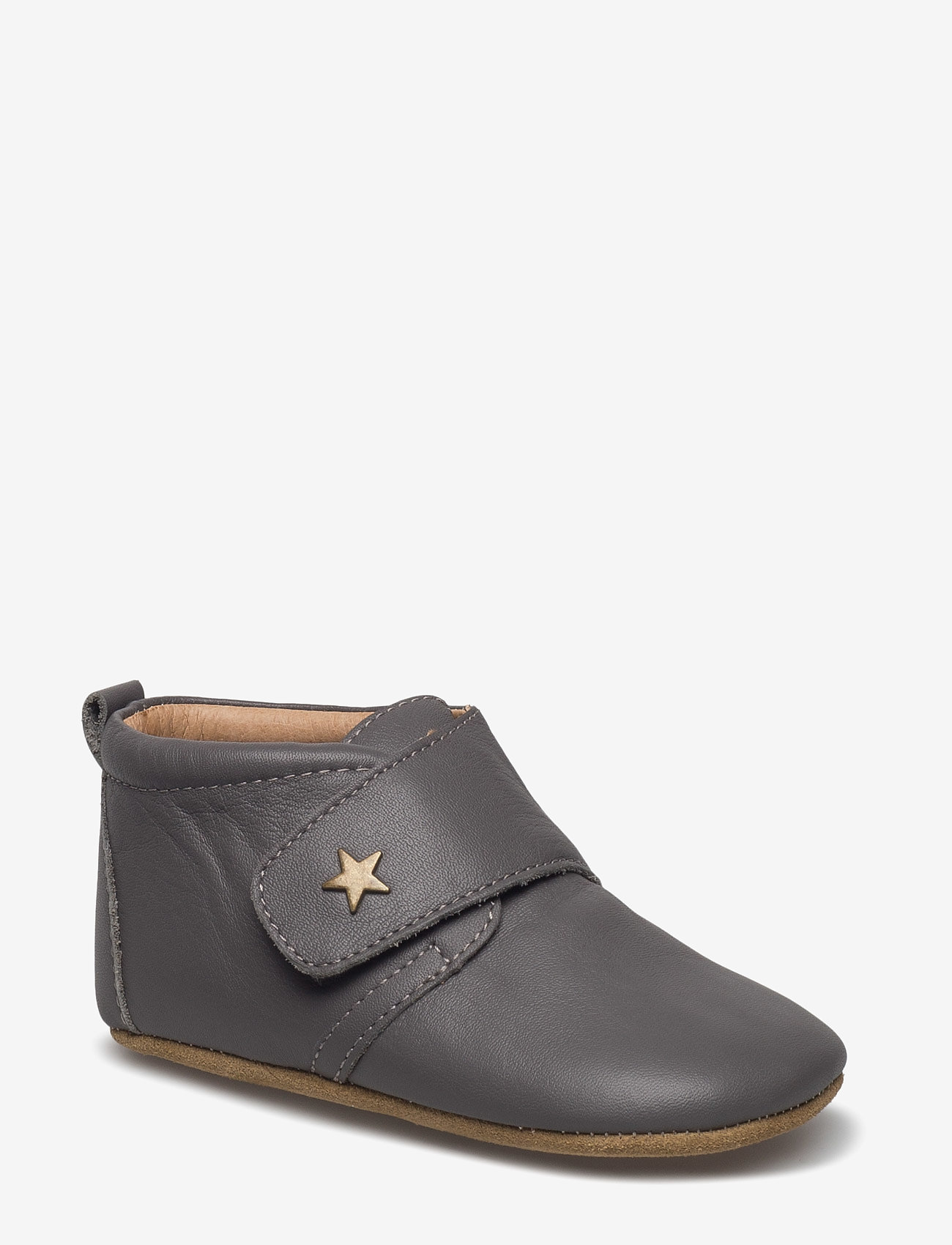 Bisgaard - HJEMMESKO - velcro stjerne - pantoufles - grey - 0