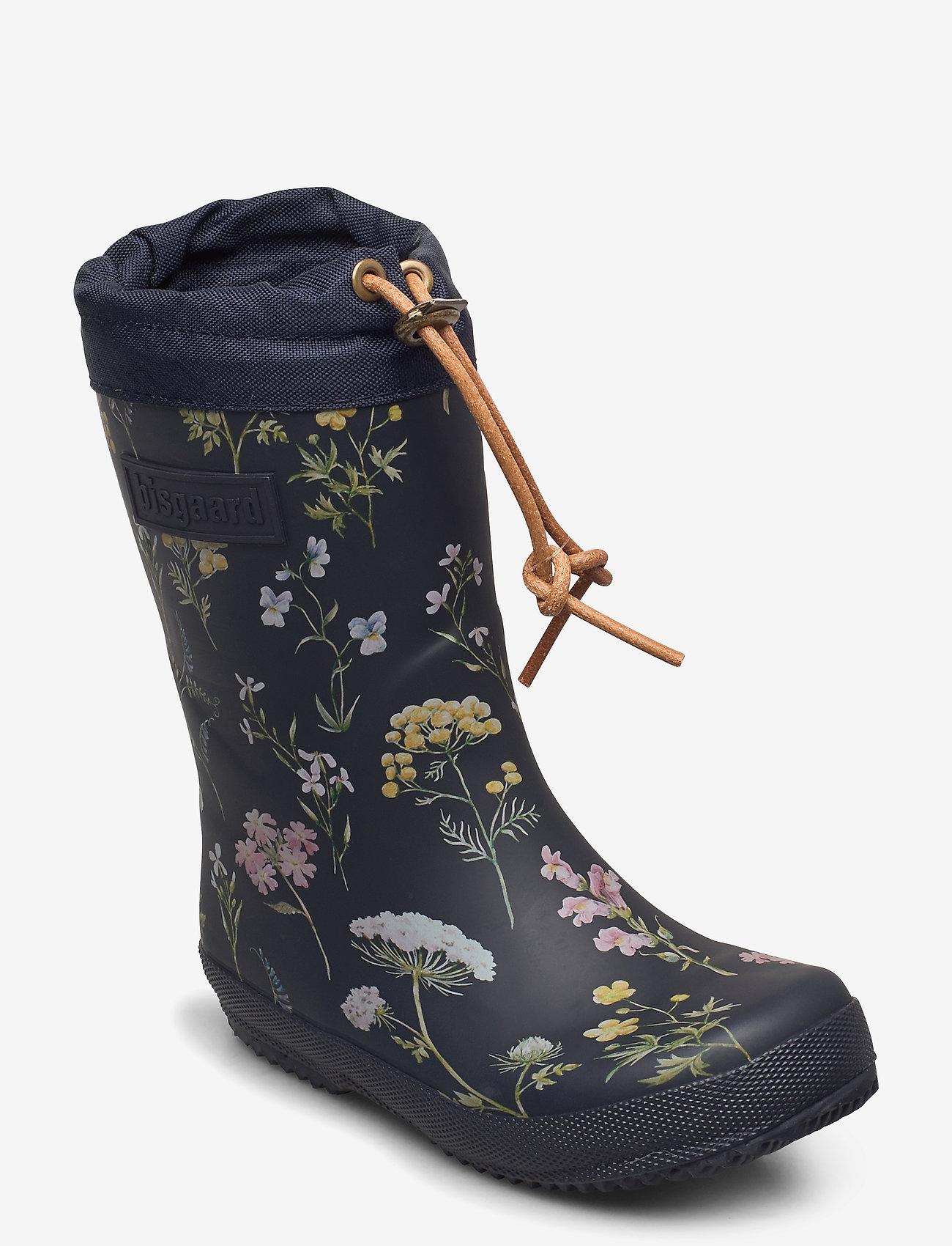 "Bisgaard - RUBBER BOOT - ""WINTER THERMO"" - sko - flowers-blue - 0"