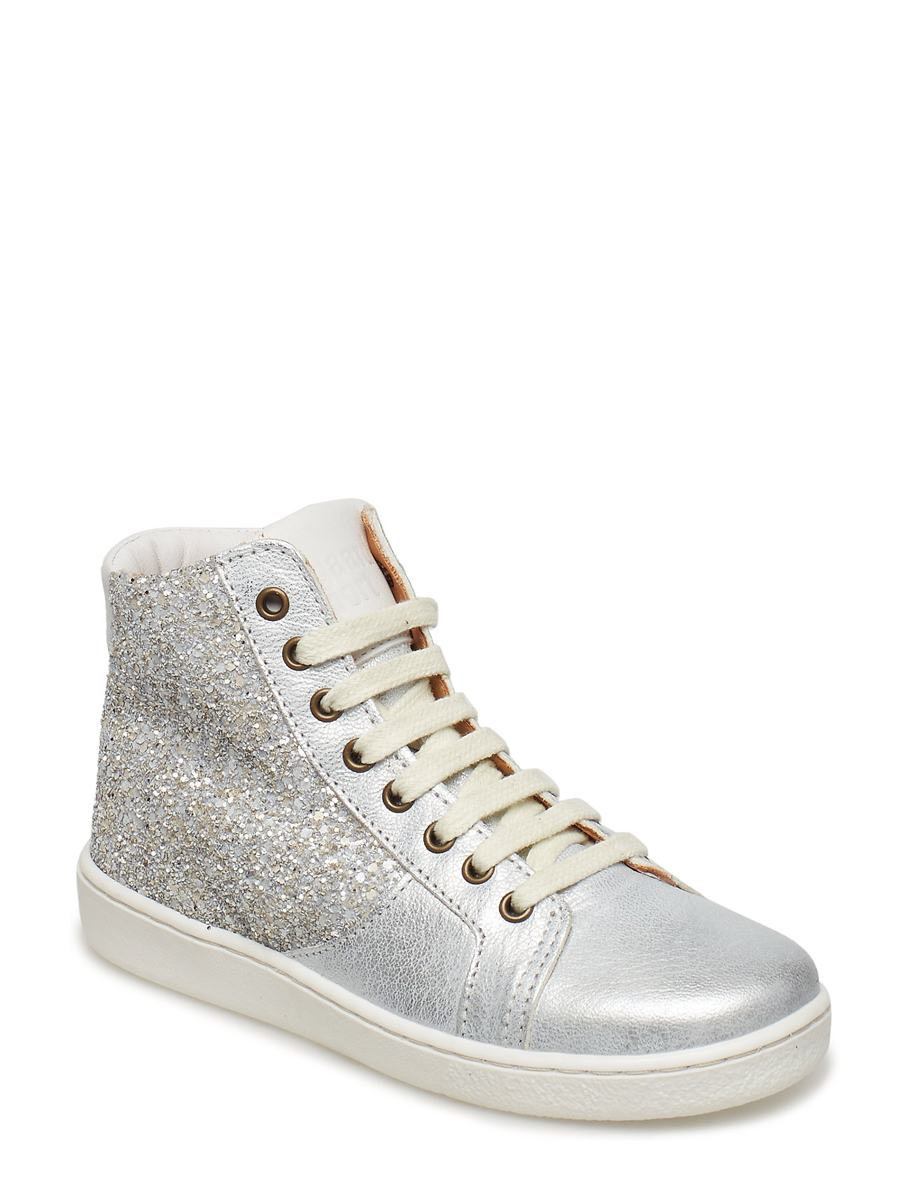 Bisgaard Shoe with laces - SILVER