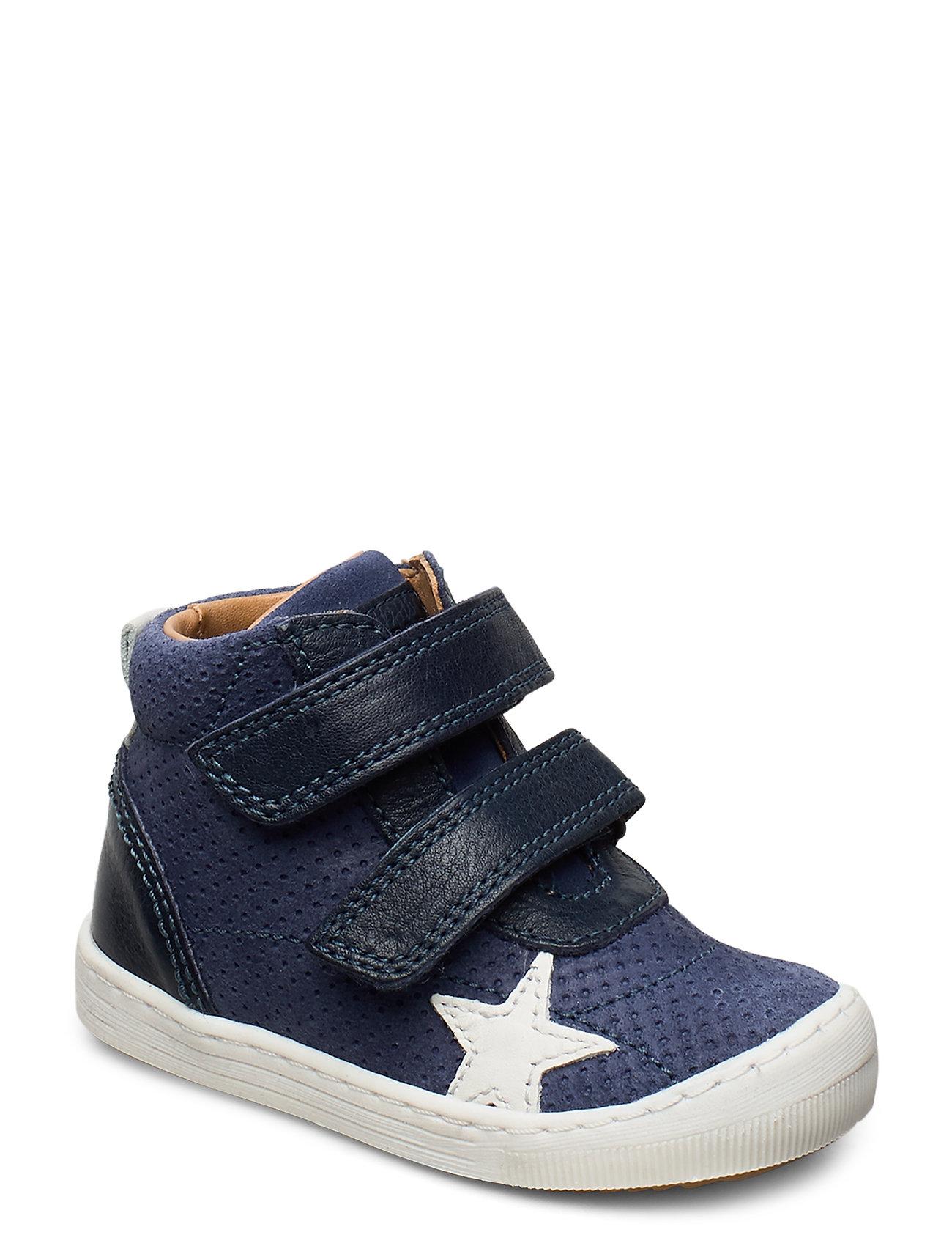 Image of Velcro Shoe Sneakers Sko Blå Bisgaard (3419557063)