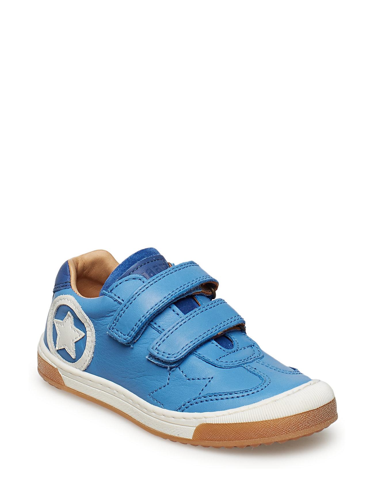 Bisgaard Velcro shoe - SKY BLUE