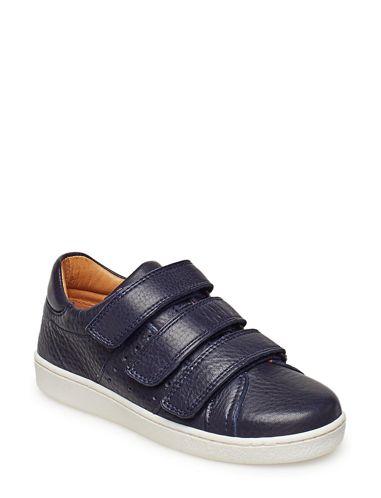 Bisgaard Velcro shoe - NAVY