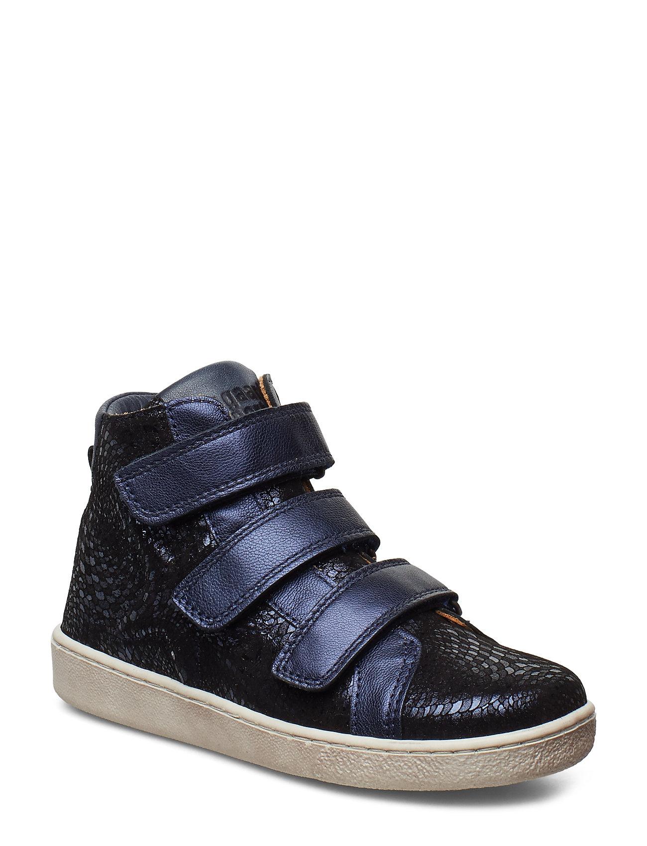 Bisgaard Velcro shoes - NAVY SWIRL