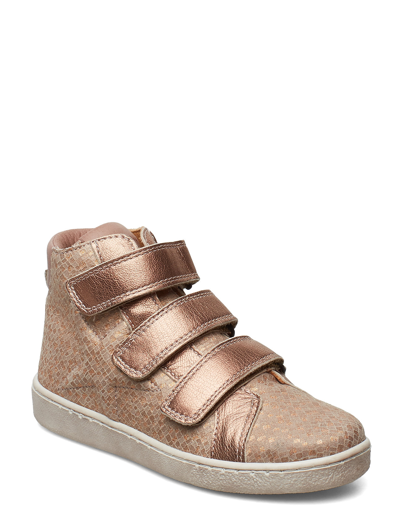 Bisgaard Velcro shoes - NUDE SQUARE