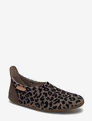 Bisgaard - bisgaard basic wool - hausschuhe - brown-leopard - 0