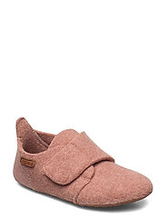"HOME SHOE - ""WOOL VELCRO"" - ROSE"