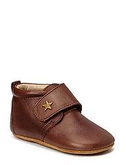 HJEMMESKO - velcro stjerne - 60 Brown